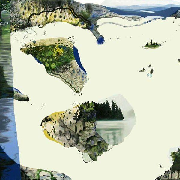 summer reunion | oil & acrylic on canvas | 72x100″ | 2006